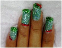 Nail Art Crystal dan Gliter - Nail Art, Seni Mewarnai Kuku yang Indah