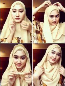 Cara Hijab Dian Pelangi Segi Empat