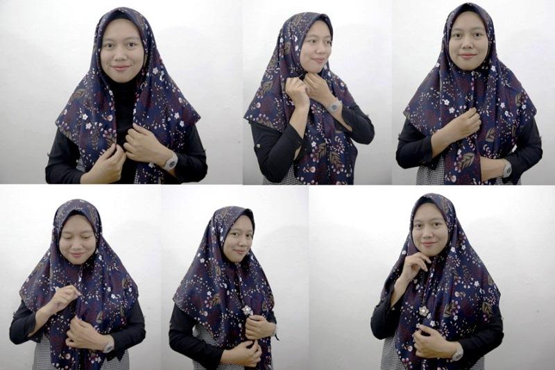 10 - 10 Tutorial Hijab Paris yang Simple Cocok untuk Hangout