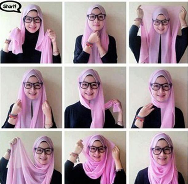 4 - 10 Tutorial Hijab Paris yang Simple Cocok untuk Hangout