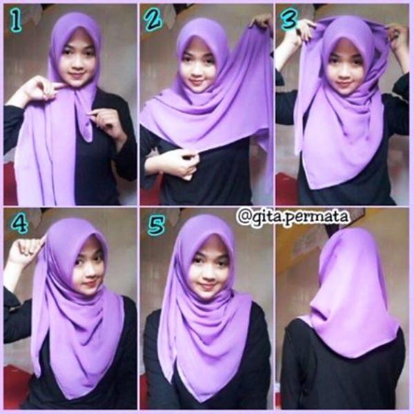 6 - 10 Tutorial Hijab Paris yang Simple Cocok untuk Hangout