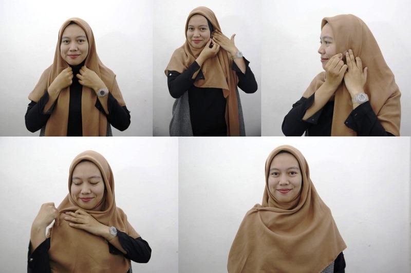 7 - 10 Tutorial Hijab Paris yang Simple Cocok untuk Hangout