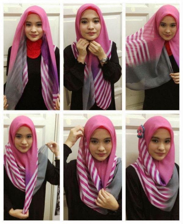 8 - 10 Tutorial Hijab Paris yang Simple Cocok untuk Hangout