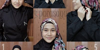 Foto Tutorial Hijab Paris Segi 4