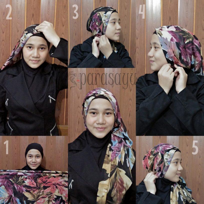 Foto Tutorial Hijab Paris Segi 4