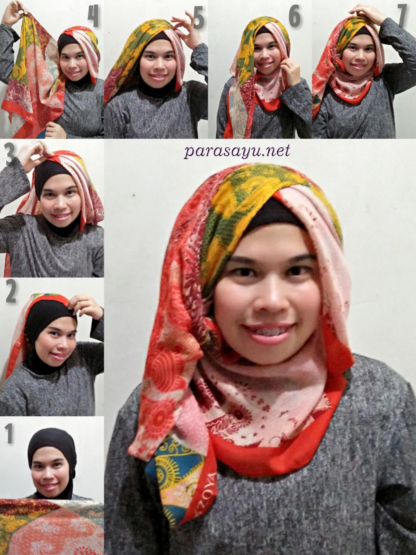 Tutorial Hijab Segi 4 Untuk Pesta