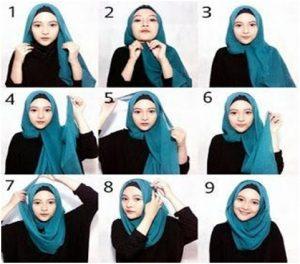 Tutorial Hijab Casual Segi Empat