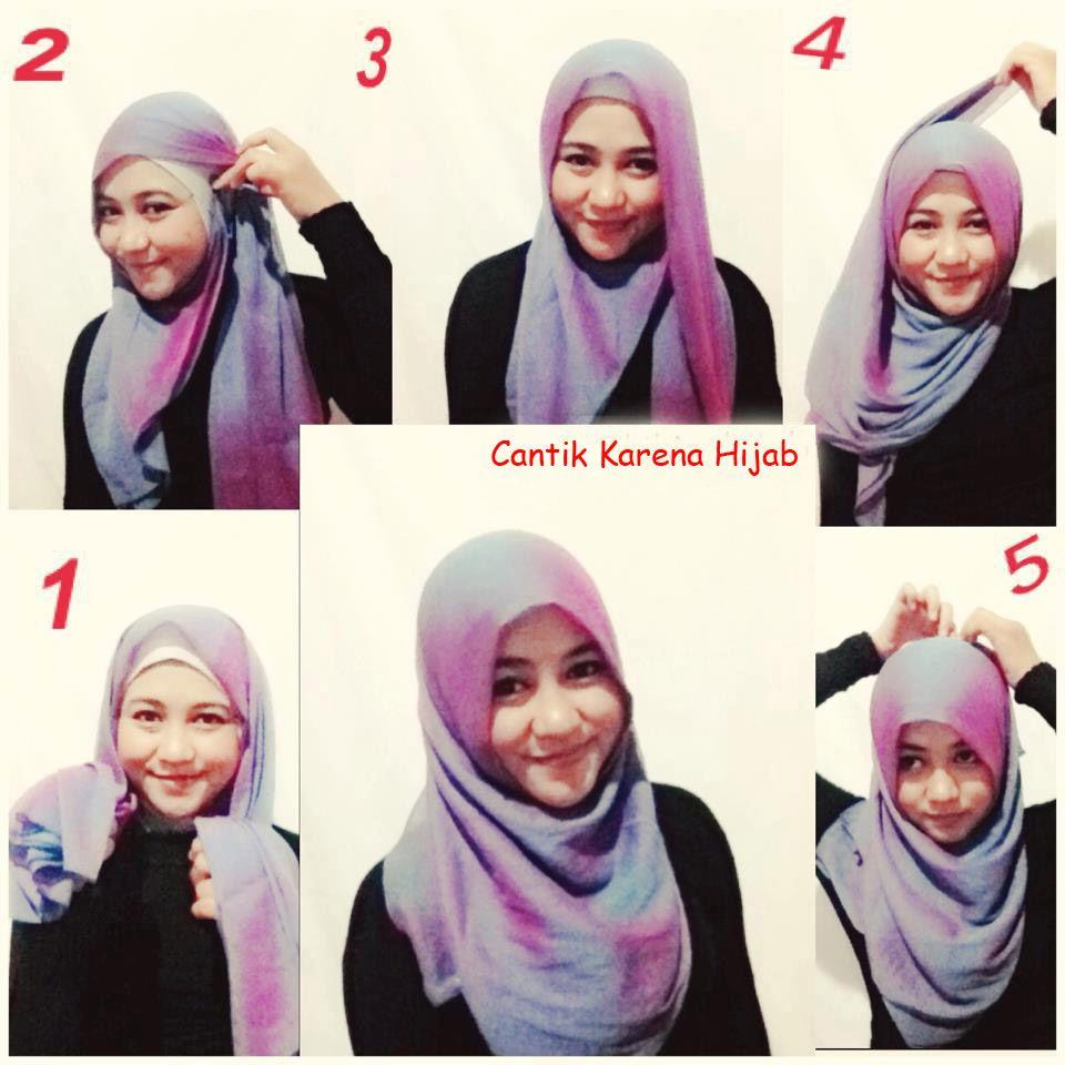 1 3 - Bisa Kamu Ikuti Nih, 7 Tutorial Hijab Segi Empat Simple Tanpa Ciput Beserta Gambarnya