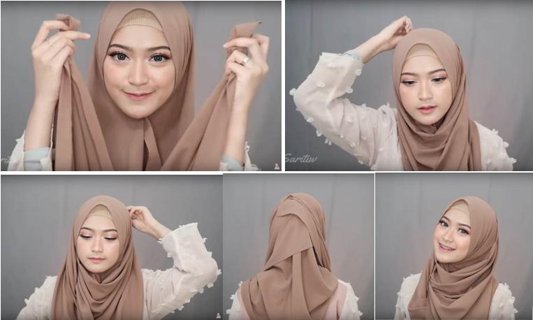 1 - Bisa Dicontek Nih, 7 Style Tutorial Hijab Pashmina yang Menutupi Dada