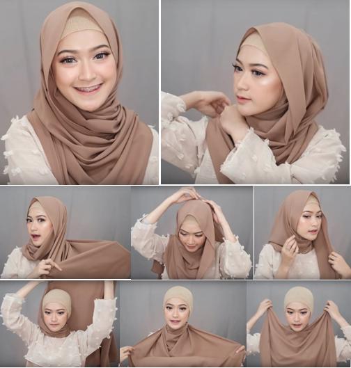 3 - Bisa Dicontek Nih, 7 Style Tutorial Hijab Pashmina yang Menutupi Dada