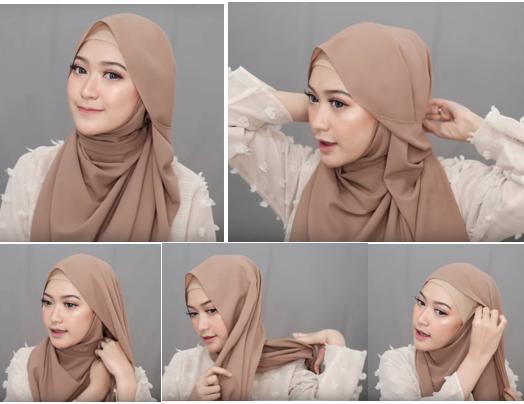 4 - Bisa Dicontek Nih, 7 Style Tutorial Hijab Pashmina yang Menutupi Dada