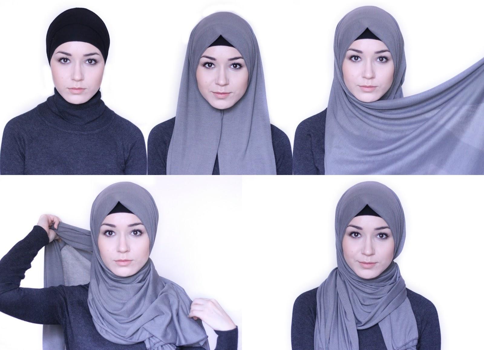 5 3 - Bisa Kamu Ikuti Nih, 7 Tutorial Hijab Segi Empat Simple Tanpa Ciput Beserta Gambarnya