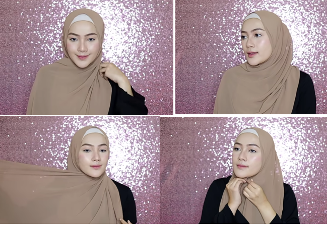 7 1 - Bisa Dicontek Nih, 7 Style Tutorial Hijab Pashmina yang Menutupi Dada