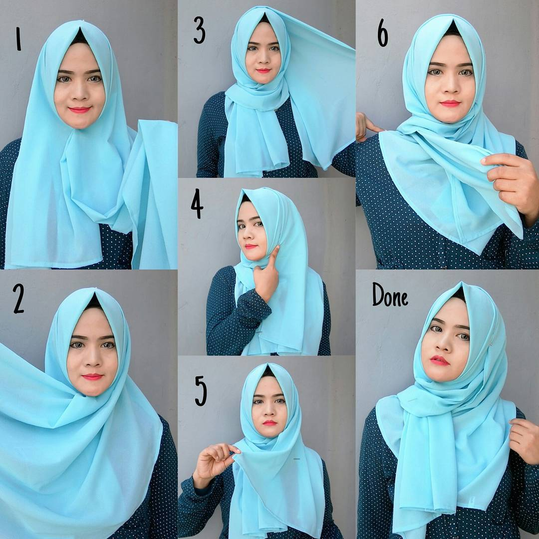 Hijab Pashmina Model 2 - Langkah-langkah Gambar Tutorial Hijab Yang Simpel Buat Hangout, Bisa Nih Kamu Coba