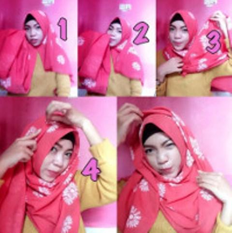 Hijab Pashmina Model 3 - Langkah-langkah Gambar Tutorial Hijab Yang Simpel Buat Hangout, Bisa Nih Kamu Coba