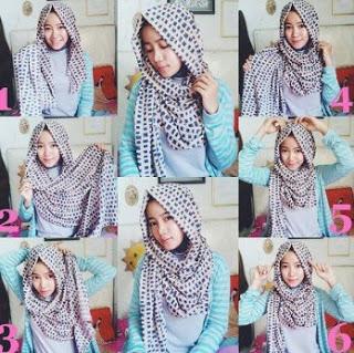 Hijab Pashmina Model 4 - Langkah-langkah Gambar Tutorial Hijab Yang Simpel Buat Hangout, Bisa Nih Kamu Coba
