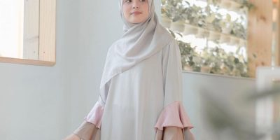 gambar tutorial hijab yang simple