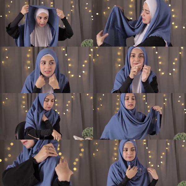 3. Tutorial Hijab ala Shiren Sungkar - Bisa Dicontek Nih, 7 Tutorial Hijab Segi Empat yang Simpel Banget