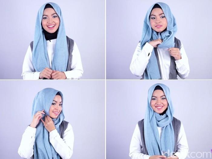 4. Model Hijab Pashmina Super Instan - Buat Ngampus, 5 Tutorial Hijab yang Simpel dan Mudah Ini Pas Kamu Tiru