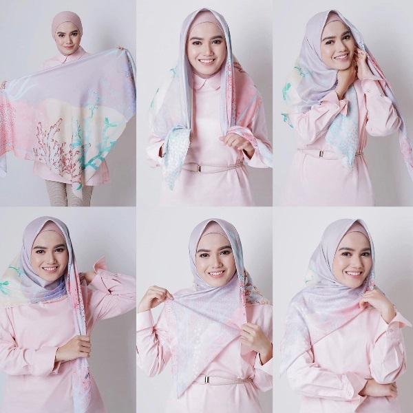 4. Tutorial Hijab Segi Empat ala Herfiza - Bisa Dicontek Nih, 7 Tutorial Hijab Segi Empat yang Simpel Banget